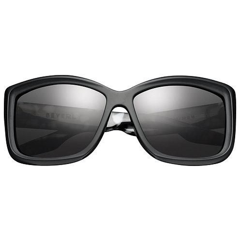 Beverly: Matte Black - Marble Stone / Grey Lens