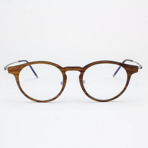 Marion - Featherlight Titanium & Wood Eyeglasses