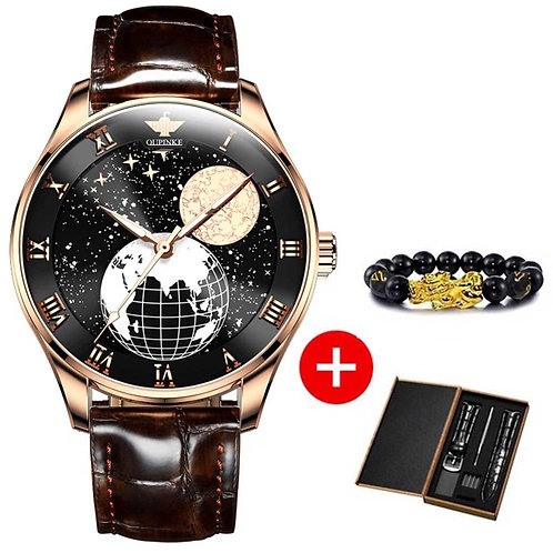 Moon Phase Watch Men Mechanical Wristwatches Automatic Relogio Masculino