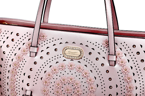 Rosè Celestial Star Tote Designer Handbags for Women Crystal Handbag