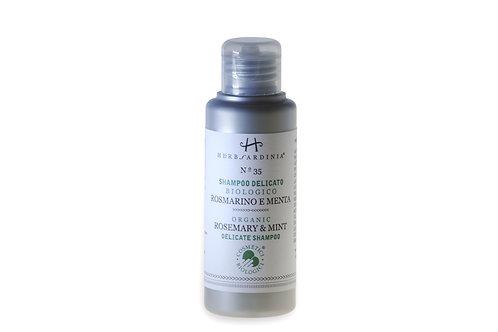 Organic Sardinian Rosemary & Mint Shampoo - 100ML