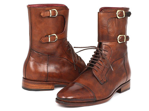 Men's High Boots Brown Calfskin