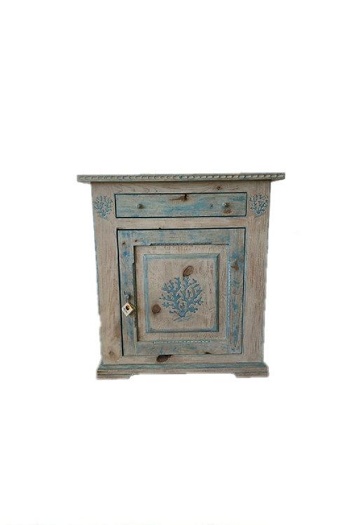Costa Smeralda Style Handcrafted Cabinet
