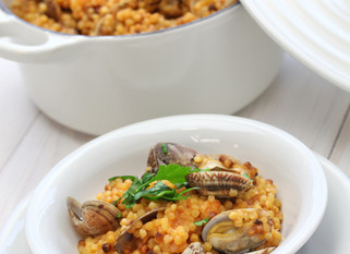 Chef Gianluca Deiana Abis: Fregola allo Zafferano e Vongole / Fregola with clams and saffron