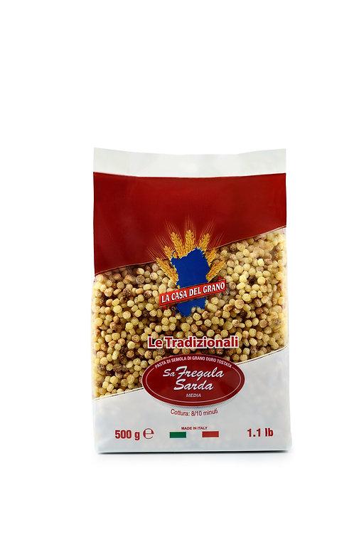 Fregola Medium Non-GMO Made with Durum Wheat Semolina (pack of 2)