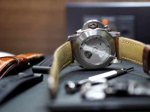 Changing a luxury watch straps (selected