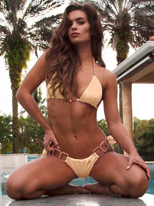 Tessa Triangle Top & Tie Side Bottom - Nude