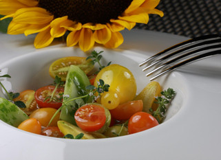 "Chef Marco Porceddu: Heirloom tomato salad ""farm to table"""