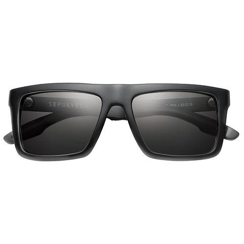 Sepulveda: Matte Black - Brushed Black / Grey Lens