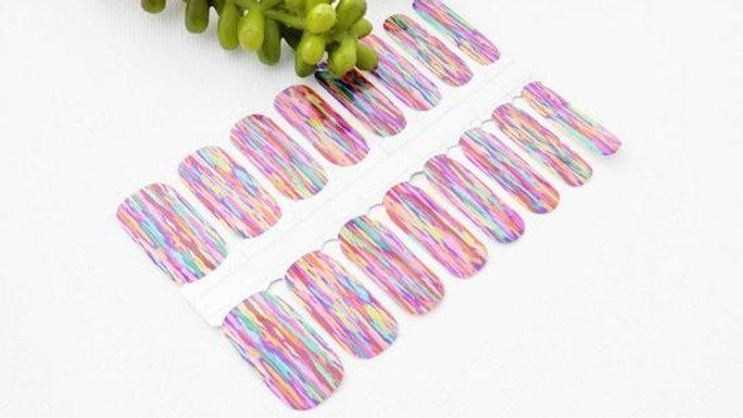 Rainbow Sunset Nail Wraps
