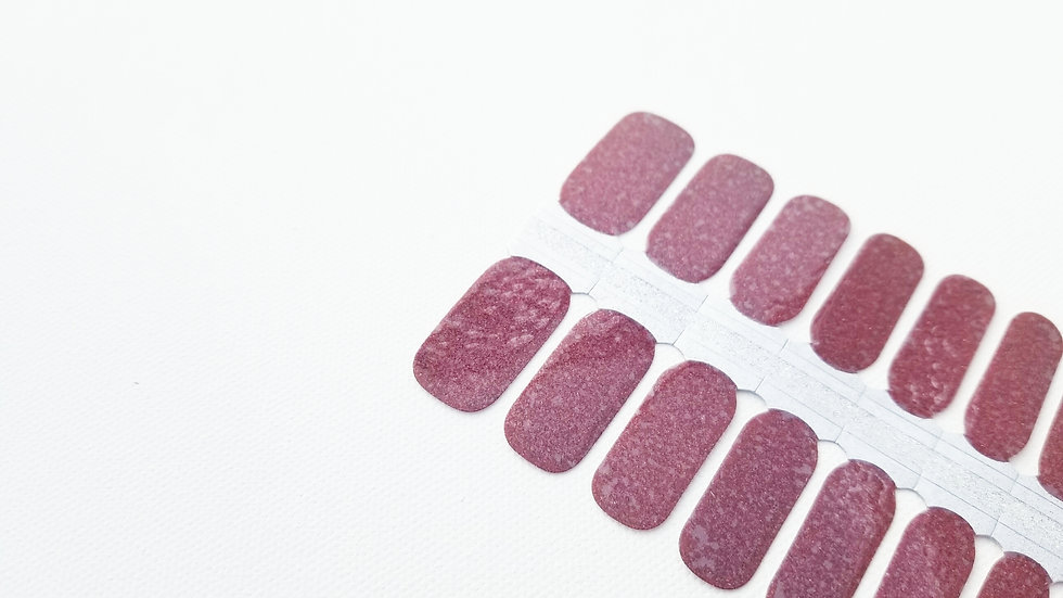 Nail Polish Strips-Nail Sticker Decals-Burgandy Glitter