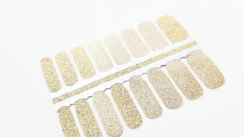 Nail Polish Strips-Nail Sticker Decals-Gold Glitter