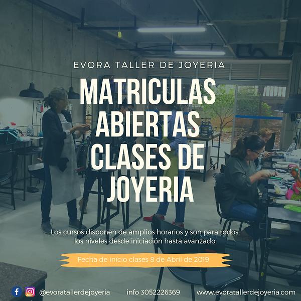 matriculas abiertas clases de joyeria.pn