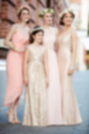 Beautiful neckline bridesmaid dreses