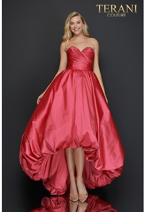 SWEETHEART HIGH LOW BUBBLE SKIRT PROM DRESS