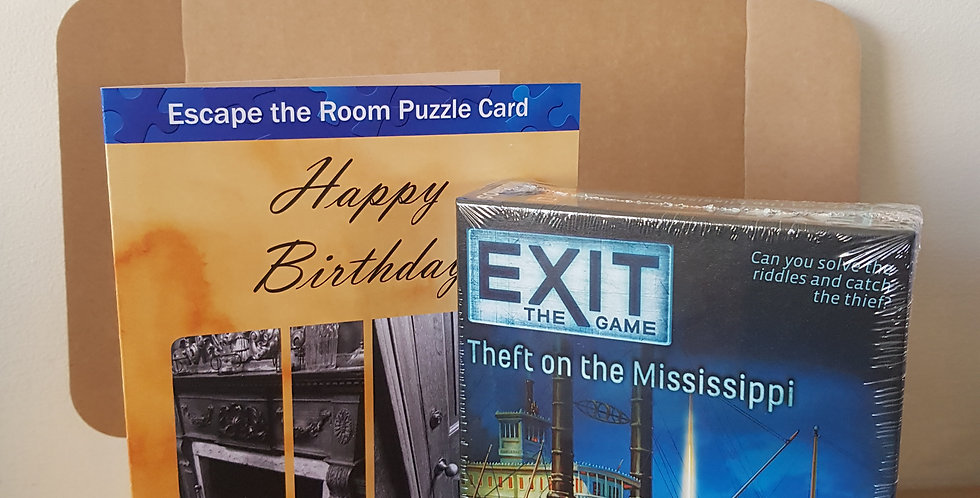 Escape Room Gift Package - Exit Theft on the Mississippi