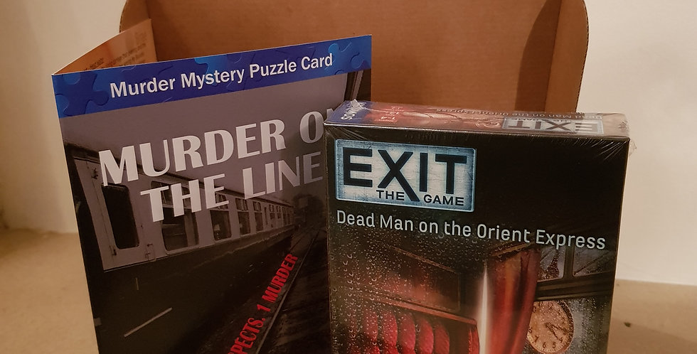 Murder Mystery Gift Package - Exit game and Puzzle Card