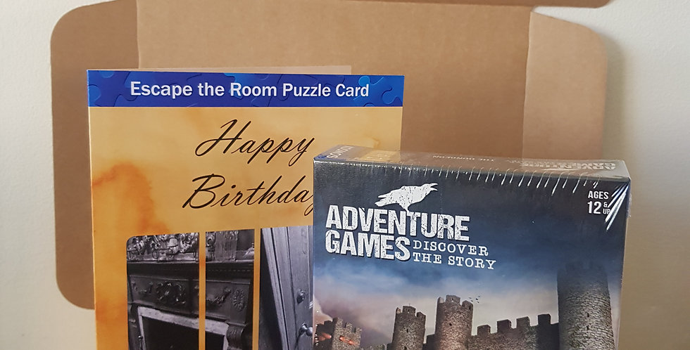 Adventure Game Gift Package - Adventure Game and a Puzzle Card