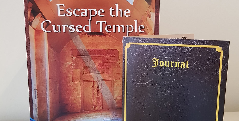 Escape the Cursed Temple Puzzle Card