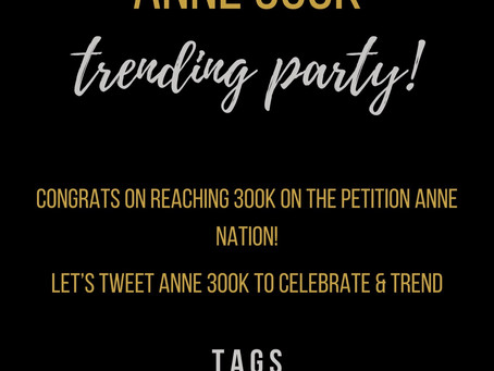 Fan Petition Hits 300k!