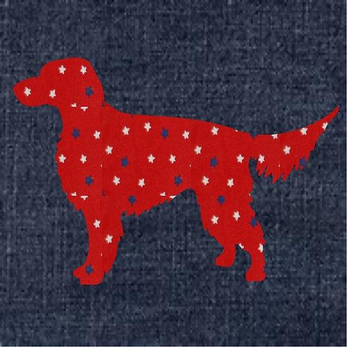 Gordon Setter Applique Patriotic Pillow