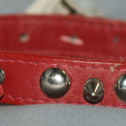 Leather Brothers Silver Stud and Spike Dog Collars