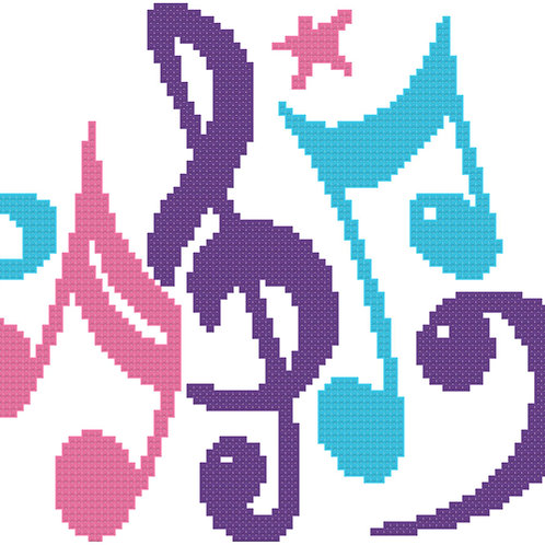 Musical Notes cross stitch