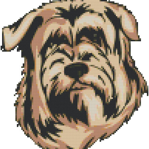 Glen of imaal Terrier cross stitch