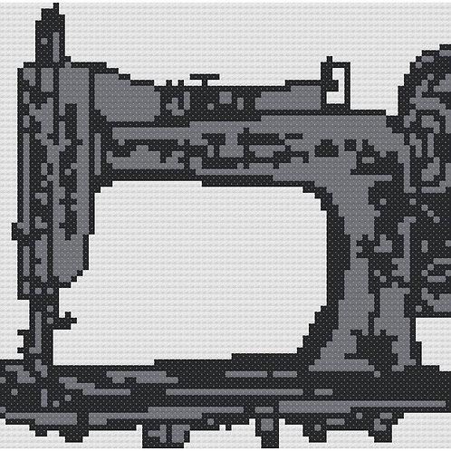 Antique Sewing Machine cross stitch