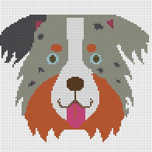 Border Collie Portrait cross stitch