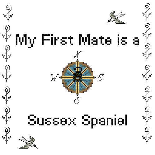 Sussex Spaniel, My First Mate is a