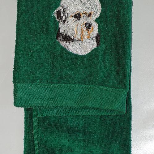 Dandie Dinmont Embroidered Guest Towel