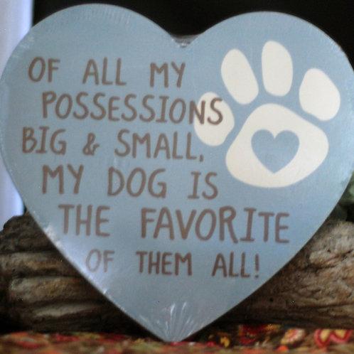 Dog Lover's  Heart Sign