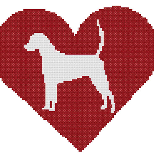 English Foxhound in Heart