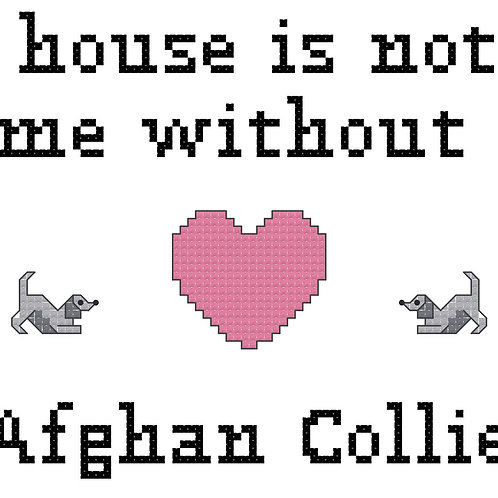 Afghan Collie, A House is Not a Home Without