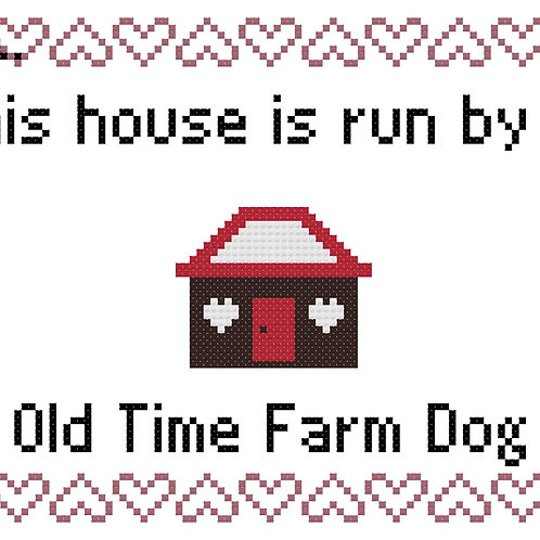Old Time Farm Dog, This house is run by
