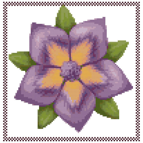 Abstract Flower cross stitch