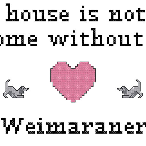 Weimaraner, A House is Not a Home Without