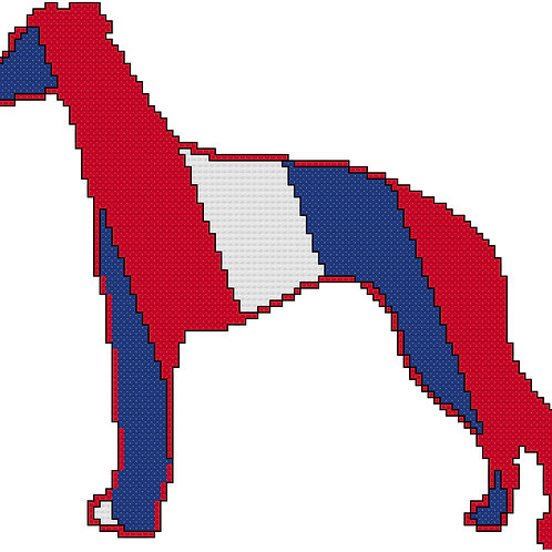 Whippet in Red White and Blue