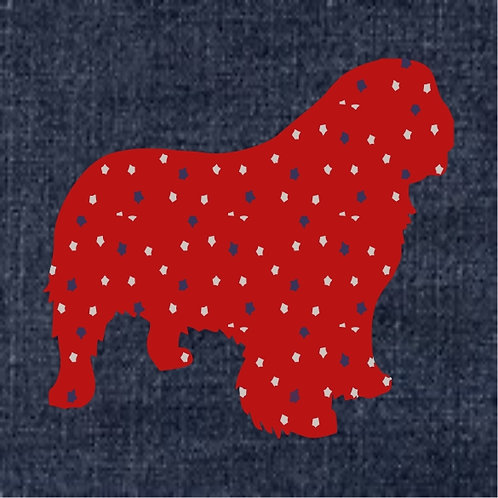 Clumber Spaniel Applique Patriotic Pillow