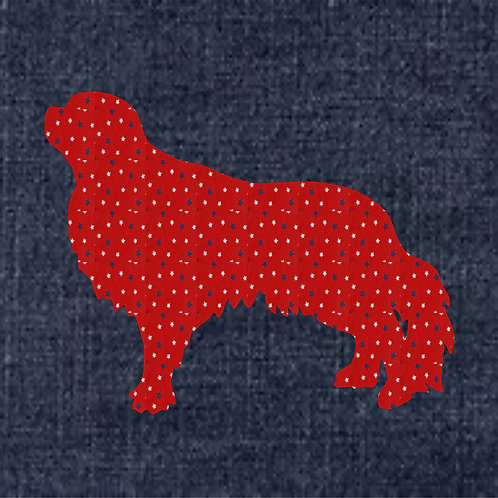 English Toy Spaniel  Applique Patriotic Pillow