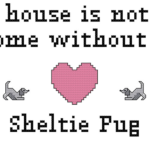 Sheltie Pug, A House is Not a Home Without