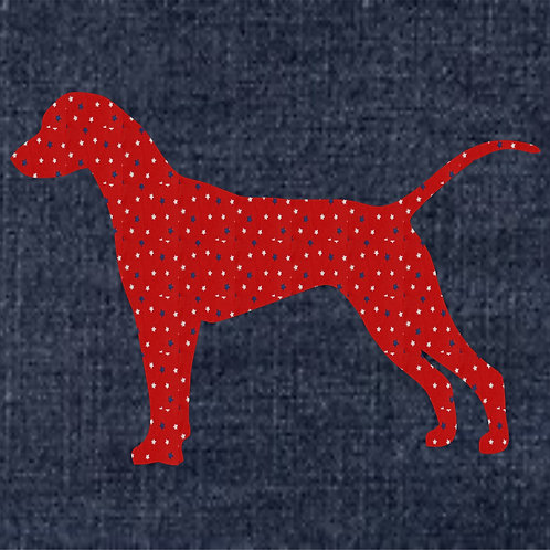 Dalmatian Applique Patriotic Pillow