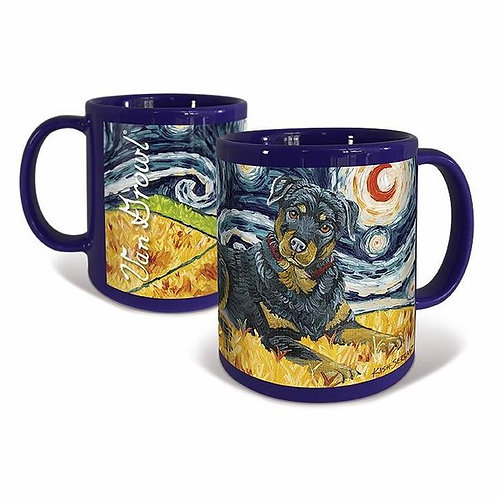 Rottweiler, Starry Night Mug