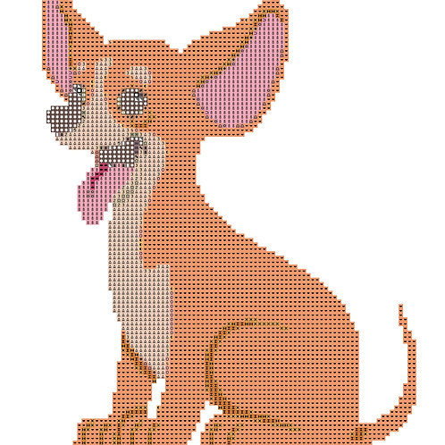 Smiling Chihuahua cross stitch