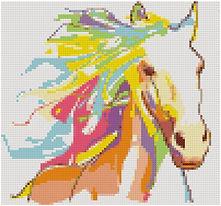 Colorful Horse Portrait virtual stitches