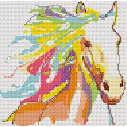 Colorful Horse Portrait