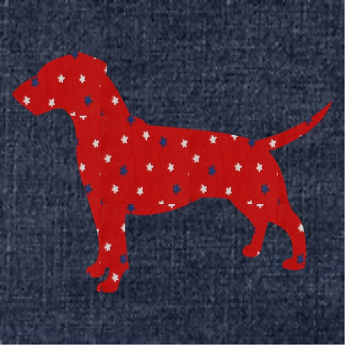 German Pinscher Applique Patriotic Pillow
