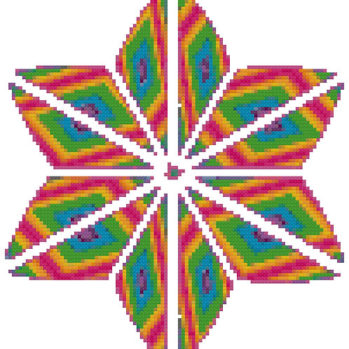 Pyschodelic Posey Cross Stitch Pattern Download