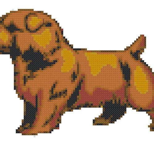 Norfolk Terrier Full Body cross stitch